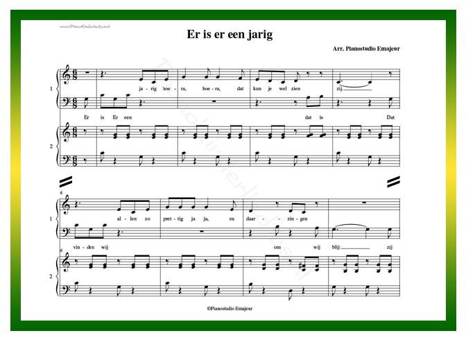 Extreem Pianokinderliedjes | bladmuziek vierhandig | ook als @IB41
